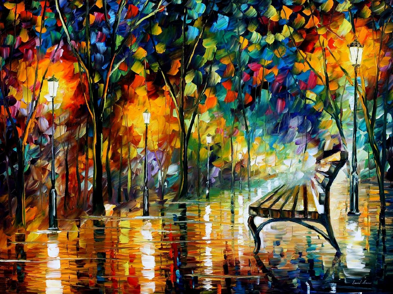 Leonid Afremov - Night Loneliness