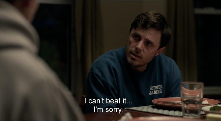 """""""Eu não consigo superar... Sinto muito. """""""
